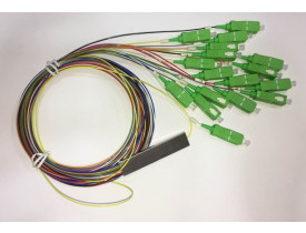 SPLITTER 1*16 0.9MM 1.5M SC-APC PLC COLOR