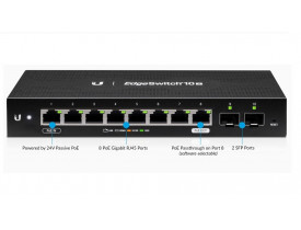 UBIQUITI ES-10X EDGE SWITCH 10-PORTS (10 GIGA POE + 2 SFP)