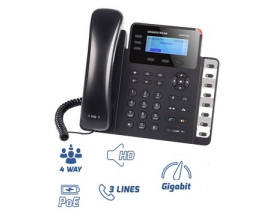 GRANDSTREAM GXP 1630 IP PHONE 3 LINHAS GIGABIT (POE) HD