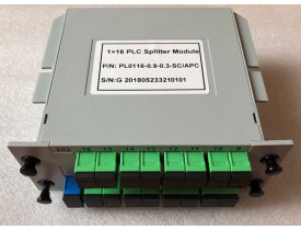 SPLITTER 1*16 BOX SC-APC 0.9MM PLC MODULO