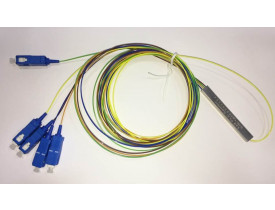 SPLITTER 1*4 0.9MM 1.5M SM SC-UPC PLC COLOR