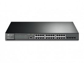 TP-LINK HUB SWITCH 24P T2600G-28MPS 4SFP POE
